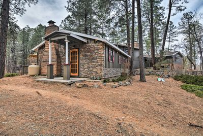 This lovely cabin in Prescott is located in the historic Groom Creek community.