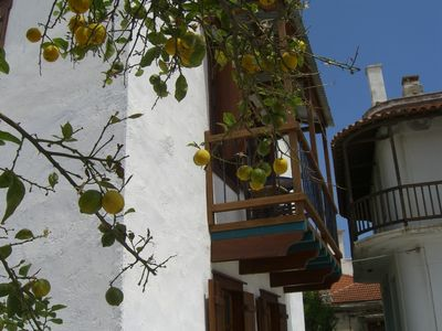 Photo for Beautiful house in Skopelos old town with harbour views