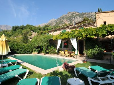 Photo for Typical stone estate with private pool and barbecue. WIFI. Surrounded by gardens