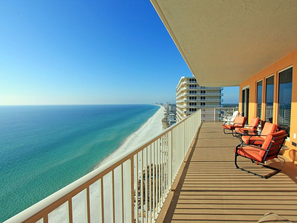Treasure island 1912 3br beach front corner unit open - 3 bedroom condos panama city beach fl ...