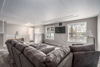 Large Family Room and Sectional. Main Floor