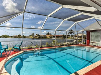 Photo for NEW! Waterfront Cape Coral Home w/Pool, Near Beach
