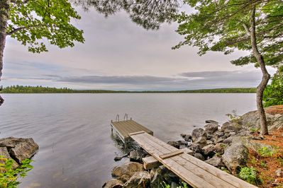 Enjoy 670 feet of private frontage on Cathance Lake at this vacation rental!