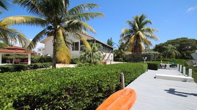 Photo for Walk to Sombrero beach home with pool and canal.