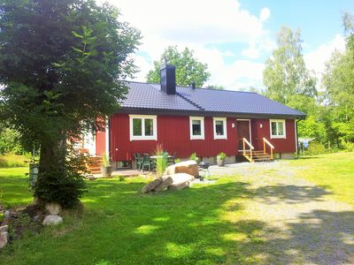 Photo for Large holiday house, lake view, sauna, boat, 2 canoes, available pier, fishing