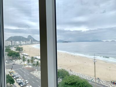 Photo for CaviRio - Copacabana Beach: simple apartment with sea view (PFT)