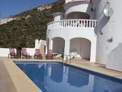 Photo for Private Family Southfacing Villa with Heated Pool & Stunning Mountain Views
