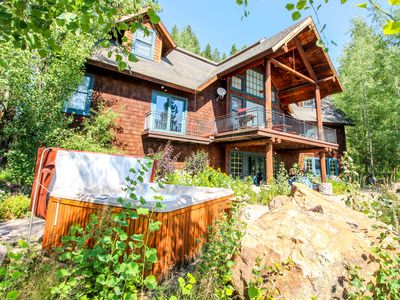 Photo for Spacious & secluded cabin - private hot tub, wood fireplace & more!
