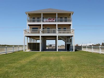 Photo for Moby Deck - Big beachfront with game room, double decks, sleeps 32!