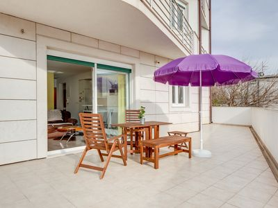 Photo for Spaciuos Modern Apartment with Sunny Terrace and Private Parking