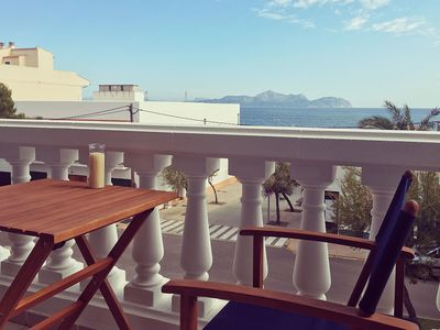Photo for Air-Conditioned Holiday Home with Wi-Fi, Terrace and Balcony with Sea View