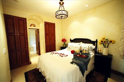 Enjoy your King bed with glass doors to the veranda