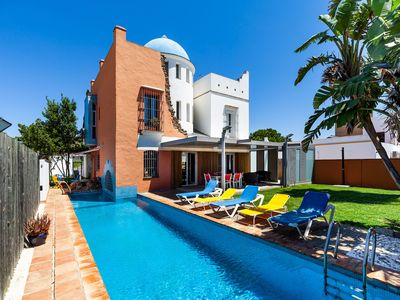 Photo for Enchanting Home with Wi-Fi, Air-Conditioning, Pool, Rooftop Terrace & Patio