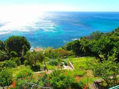 Photo for Holiday house with breathtaking sea views, garden, WiFi, parking, terraces