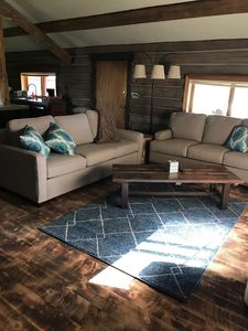 Rustic MT living- 7 miles from Glacier! Large open concept living room