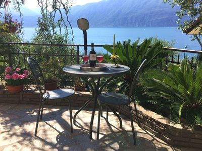Photo for Modern Apartment in Brenzone looking over Lake Garda