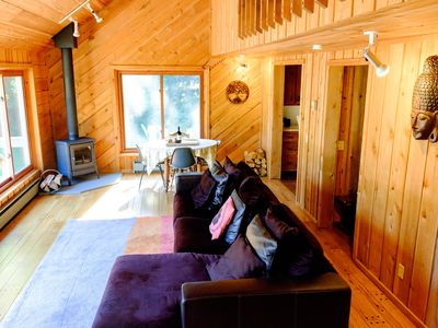 Photo for Relax in peaceful private secluded woods, mountains
