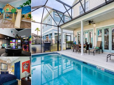 Photo for Magical Family Vacation Home at Reunion   Arcade Game Room   Amazing Kids Bedrooms
