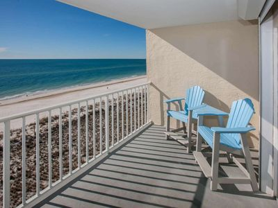 Photo for 7th Floor Gulf-front Corner | Outdoor pool, Hot Tub, BBQ | Free golf, fishing, dolphin cruise