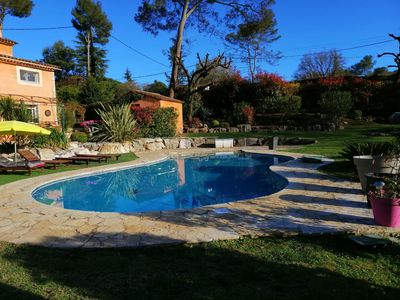 Photo for Between Monaco and Cannes Villa 2 bedrooms 4 persons and private pool
