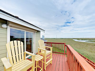 Photo for Steps to Secluded Beaches! Lost Colony 3BR w/ Big Deck, Pool & Gulf Views