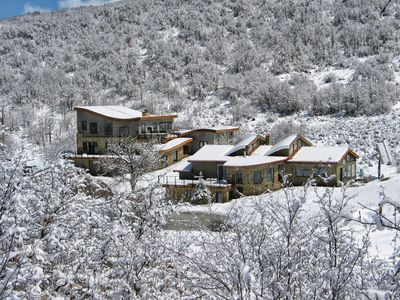 Photo for Luxury Award Winning Secluded Mountain Home 80 Acres Hot Tub w/Pro Kitchen