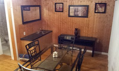 Dining area and wet bar
