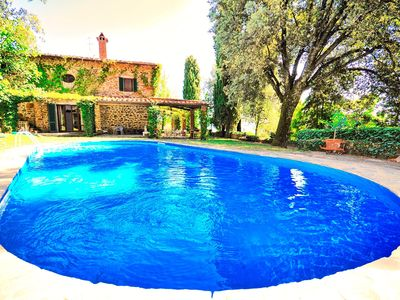 Photo for Large stone-built villa with private swimming pool set in perfect location