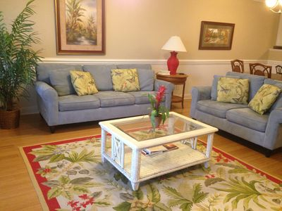Photo for Beautiful top floor Condo/2 pools Steps From Beach  And Pier