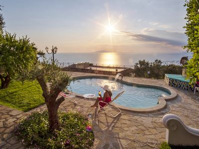 Photo for Private-Villa for 14 people with swimming pool and stunning sea view