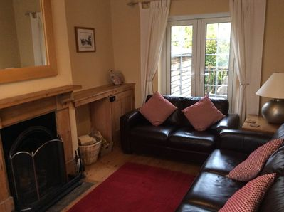 Sitting Room with Leather Sofas