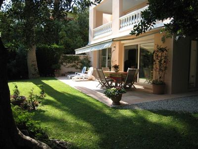 Photo for Upscale Beaulieu, Classic Villa in Garden Setting w/Sea View, Air Conditioned