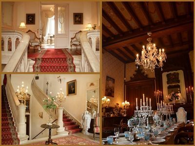 ENTRY HALL, MEZZANINE, AND CHATELAIN'S DINING ROOM