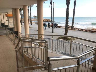 Photo for Beautiful, bright apartment in Torrevieja, directly by the sea and promenade, air conditioning,
