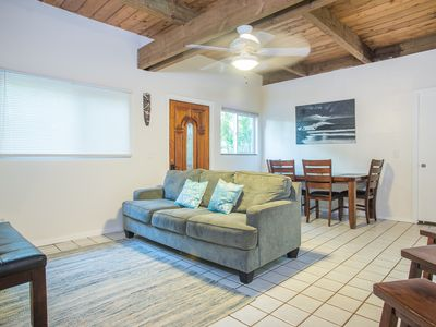 Photo for Sunset Surf Bungalow - Sunset beach is beckoning! Steps from famous beach!