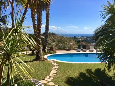 Photo for Holiday house with pool and sea views + garden for 4 pers. Costa Brava (Lloret)