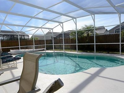 Photo for 4 Bed Disney Area Pool Home with 2-King Master Suites and Privacy Fence!