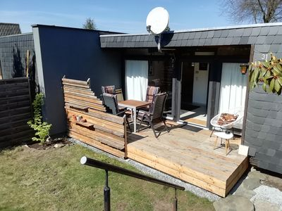 Photo for Sweet holiday bungalow apartment 50 sqm in the Frankenwald 95192 Lichtenberg Lk Hof