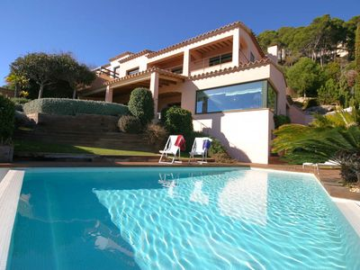 Photo for 4 bedroom Villa, sleeps 8 in Llafranc with Pool, Air Con and WiFi