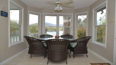 Enjoy your meals overlooking Lake Lure.