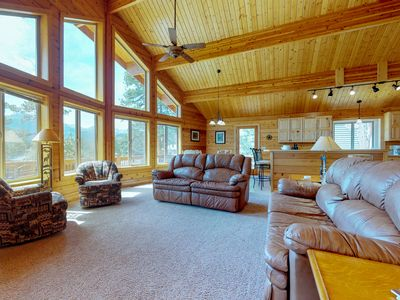 Photo for NEW LISTING! Charming, updated cabin w/full kitchen, gas fireplace & deck