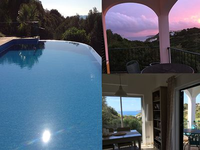 Photo for Stunning Villa, Infinity Pool, Beach 5 min walk, Dual Aspect Sea & Country Views