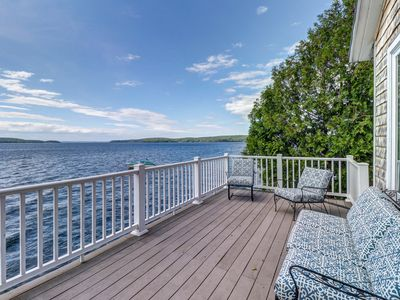 Photo for Bayfront home with breathtaking views near town and outdoor attractions!