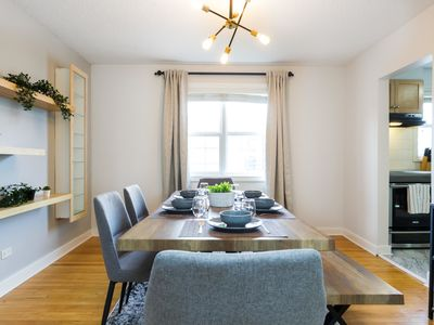Photo for Bright Nordic Home - Netflix - Secure 2 Car Garage Parking - Sleeps 12 Guests! Sanitized!