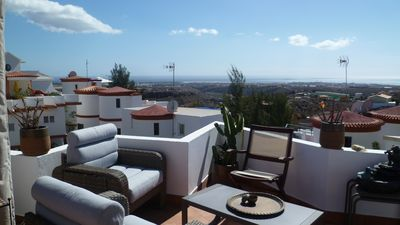 Photo for Cozy Villa with Amazing Views from the Terrace 8Km from Maspalomas Dunes