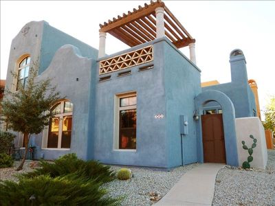 Exterior of  our beautiful Embarcadero townhome in Tubac, Arizona
