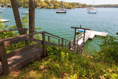 Another view of the dock.  There is great swimming and kayaking in the cove!