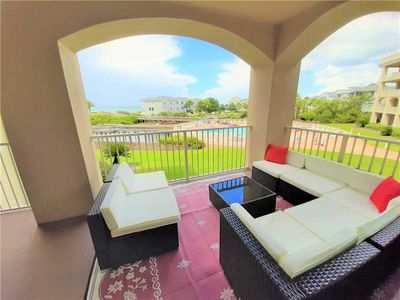 Photo for Gulf & Pool Views from Balcony! Fantastic Location on the Serene 30A!!