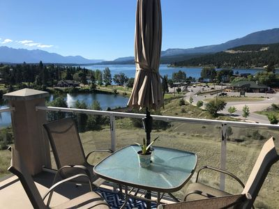 Photo for Amazing view, steps to Kinsmen Beach & downtown Invermere shops and restaurants