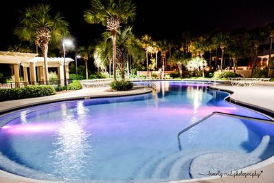 Westwinds pool is heated nice and warm year-round. Best pool in the resort.